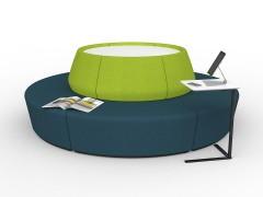 Avocado-Deep Blue Combo with White Worktop