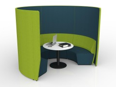 Avocado-Deep Blue Combo with White Table