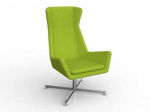 Free Chair in Avocado Green Motion Felt