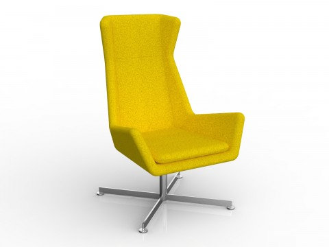 Free Chair in Bumblebee Yellow Motion Felt