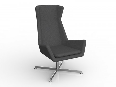 Free Chair in Charcoal Grey Motion Felt