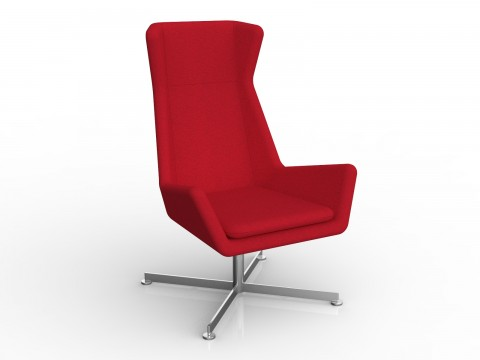Free Chair in Chilli Red Motion Felt