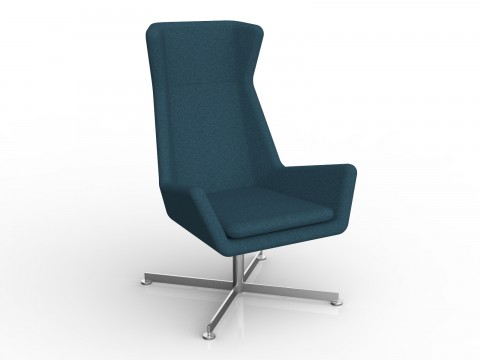 Free Chair in Deep Blue Motion Felt
