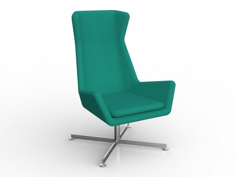 Free Chair in Emerald Green Motion Felt