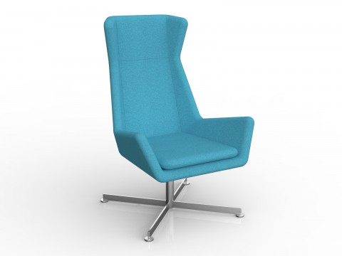 Free Chair in Ice Blue Motion Felt