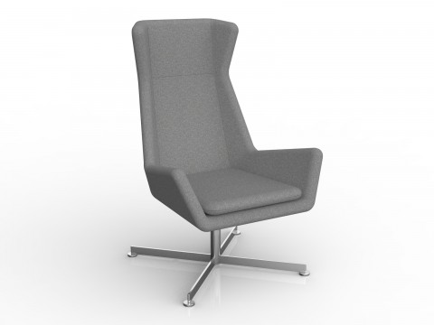 Free Chair in Stone Grey Motion Felt