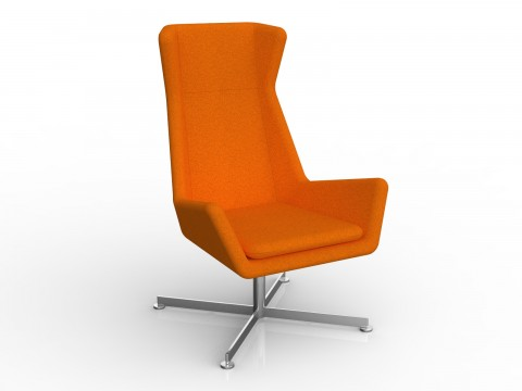Free Chair in Sunset Orange Motion Felt