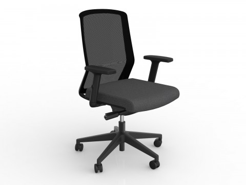 Motion Sync with Armrests & Charcoal Grey Seat Cover