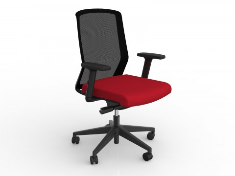 Motion Sync with Armrests & Chilli Red Seat Cover