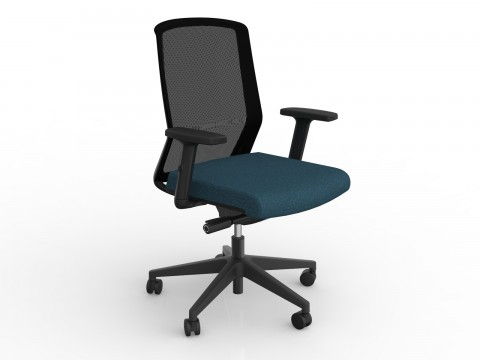 Motion Sync with Armrests & Deep Blue Seat Cover