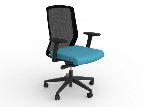 Motion Sync with Armrests & Ice Blue Seat Cover