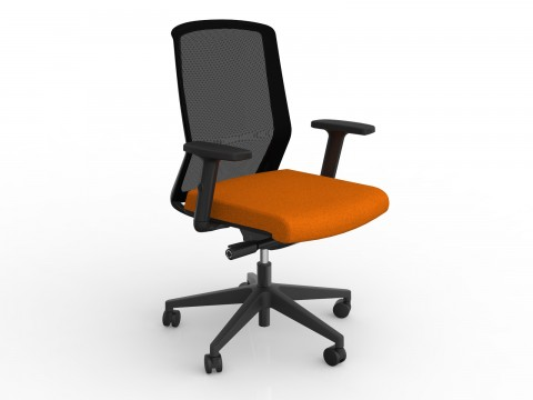 Motion Sync with Armrests & Sunset Orange Seat Cover